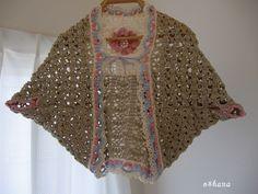 かぎ編みの女の子のボレロです