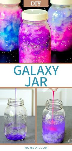 Galaxy Jars DIY: Hold the Galaxy Glowing in Your Hands!
