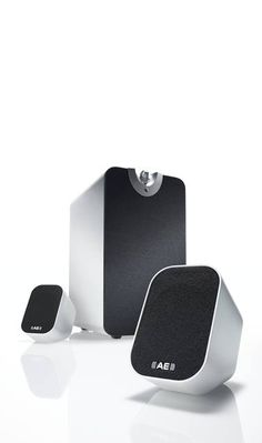 Speaker, aluminium, black, fabric