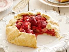 Strawberry Galette-- looks simple and yummy!!