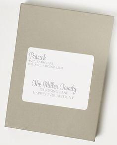 Sunny Slate Address Label by When & Where Invites on Etsy Price: $4.50 each  Buy It Now!: http://etsy.me/16CVRXP  #handmadeinvitations #invitations #custominvitations #partyinvitiations #invites #weddinginvitations #announcements #birthdayinvitations #customaddresslabels #addresslabels
