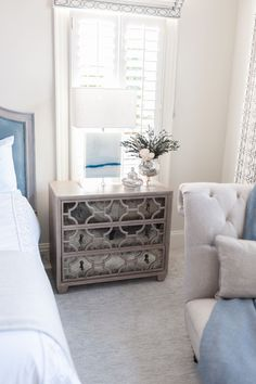 This stunning Romantic Transitional Bedroom is the work of Waxhaw, North Carolina-based Interior Designer Sara Lynn Brennan.  Sara is a nationally published, award-winning Interior Designer who specializes in the timeless, classic design style of Romantic Transitional Design.  Follow her on Instagram @saralynnbrennan Romantic Bedroom Design, Romantic Master Bedroom, Master Bedroom Design, Bedroom Designs, Dream Bedroom, Transitional Living Rooms, Transitional Decor, Bedroom Layouts, Bedroom Styles