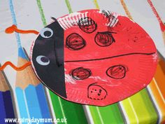 {Paper Plate Ladybird} So sweet. #CampSunnyPatch