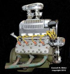 Flathead Ford with vintage blower. Crate Engines, Performance Engines, Diesel, Car Engine, Ford Trucks, Pickup Trucks, Drag Racing, Fast Cars, Old Cars