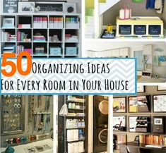 50 DIY Organization Ideas For The Home | DIY Cozy Home World - Home Improvement and Garden Tips
