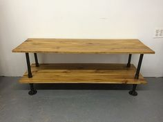 Industrial TV Stand/ Media Console/ Record Player by SmallWoodPipe