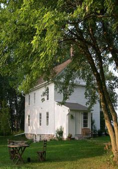 This looks like it could have been a church or meeting house at one time. I have loved these country settings since I was a small girl going for a Sunday drive with my parents.