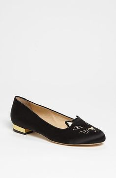 Free shipping and returns on Charlotte Olympia 'Kitty' Flat at Nordstrom.com. Rich satin shapes a feline-faced flat cut with an eye-catching topline.