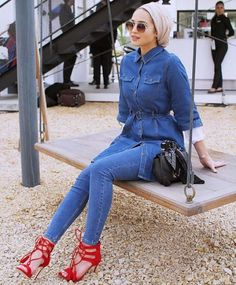 All denim outfit hijab style-Everyday hijab outfits – Just Trendy Girls