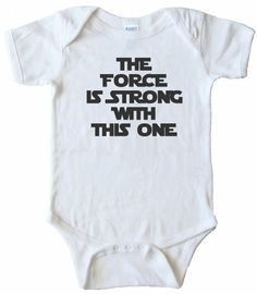 06df832ba Amazon.com  The Force Is Strong with This One Baby Onesie  Infant And  Toddler Bodysuits  Clothing
