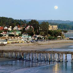 """Capitola article in Sunset """"Our favorite beach towns""""    Pizza My Heart is right off the beach and Souza's for ice cream."""