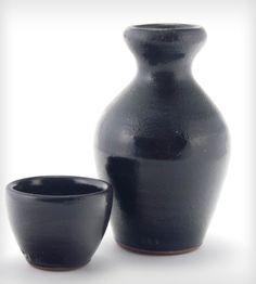 Black Glazed Stoneware Sake Set - Small | Home Dining & Barware | Jay Wiese Pottery | Scoutmob Shoppe | Product Detail