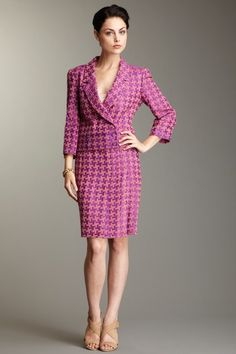 Chanel Pink Houndstooth suit