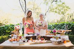 Southern Bell Themed Wedding, sycamores, tree house, San Luis Obispo, Bridesmaids, dinner buffet, Central Coast Weddings, zestitup.com