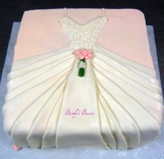Cute Wedding Gown Cake.. This would be so cool for a bridal shower!!