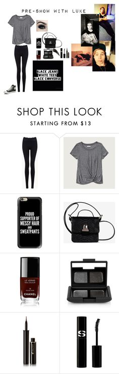 """""""Pre-Show with Luke"""" by kadenirwin on Polyvore featuring Forever 21, Abercrombie & Fitch, Casetify, MM6 Maison Margiela, Chanel, NARS Cosmetics, Lancôme, Sisley Paris and Converse"""