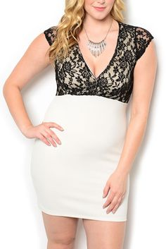 http://www.dhstyles.com/Ivory-Black-Plus-Size-Sexy-Demure-Lace-Overlay-Fit-p/hbgb-161x-ivory-black.htm