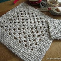 Moss Stitch, linen stitch, tweed stitch square. Work sc 1, ch 2, sc 1, ch 1 into corner