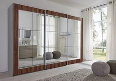 SchlafZimmer Lattice German Made Large Sliding Mirror Door Wardrobe FOR SALE •…