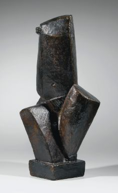 Alberto Giacometti (1901 - 1966) TORSE, signed Alberto Giacometti, dated 1925 and numbered 3/6. Bronze H 56.4 cm; 22 1/4 in., Conceived in 1926, this work was cast in 1954 by the Modern Art Foundry in New York in a numbered edition of six.