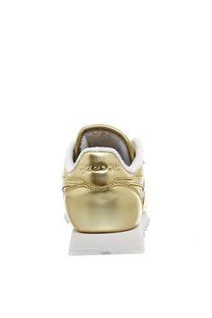 4c6ecdb360f3   REEBOK Classic Leather Trainers Gold Shoes
