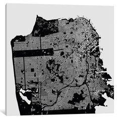 "Mercury Row San Francisco Graphic Art on Wrapped Canvas Size: 26"" H x 26"" W x 0.75"" D"