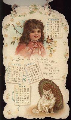 PLAYMATES CALENDAR FOR 1902. Vintage Calendar, Art Calendar, Vintage Labels, Vintage Ephemera, Vintage Pictures, Vintage Images, Kalender Design, Season Calendar, Illustrations Vintage