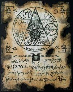 CTHULHU SEAL Necronomicon page occult demon magick dark spirit vampire horror Fantasy Rpg, Dark Fantasy, Larp, Cthulhu Mythos, Necronomicon Lovecraft, Dark Spirit, Arte Obscura, Call Of Cthulhu, Occult Art