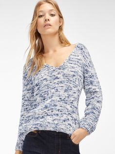 V-NECK PRINTED SWEATER