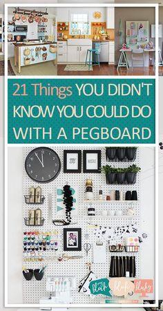 60 Super ideas for diy organization hacks tips and tricks Ikea Pegboard, Painted Pegboard, Pegboard Organization, Home Organization Hacks, Kitchen Pegboard, Pegboard Craft Room, Craft Rooms, Organization Ideas, Diy Organizer