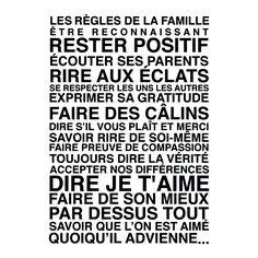 Affiche Adhésive Murale Avec Les Règles De La Maison. | Décoration |  Pinterest | Paper, 39;? And Stickers