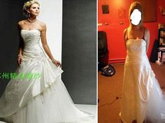 144bb75eb987 Beware the online discount wedding dresses: Angry brides share knock-off  nightmares after buying gowns that looked stunning online but are HIDEOUS  in real ...