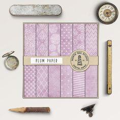 Vintage Plum Digital Paper -  http://etsy.me/2cfGLfW Vintage plum digital paper with damask, polka dot, chevron, stripes & floral pattern.