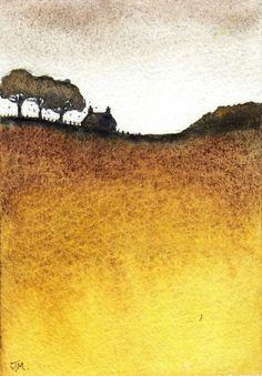 Gold., Watercolor painting by JULIE MORRIS   Artfinder