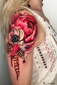- 50 Pfingstrosen Tattoo Designs und Bedeutungen 50 Peonies Tattoo Designs and Meanings # Meanings # Peonies Tattoo Girls, Girl Tattoos, Tattoos For Women, Tatoos, Tattoo Women, Creative Tattoos, Unique Tattoos, Beautiful Tattoos, Awesome Tattoos