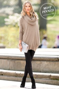 A kiss of cashmere adds a luxurious touch to our Multi-way Tunic Sweater. | Multi-way Tunic Sweater
