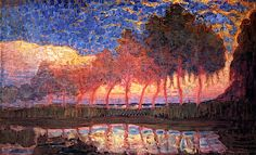 Trees along a River / 1907-8 Piet Mondrian