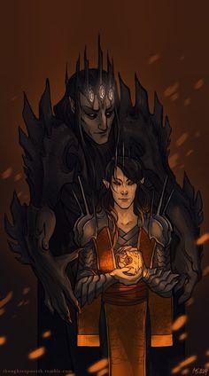 Sauron and Morgoth by Rekyrem on deviantART