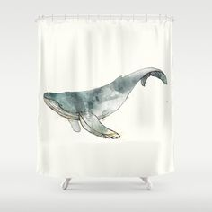 Humpback Whale Shower Curtain by Amy Hamilton | Society6