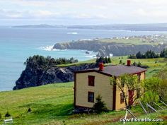 Burnt Point, Newfoundland ~ Between Carbonear and Bay de Verde in Conception Bay. Such a lovely biscuit box home! Places Around The World, Oh The Places You'll Go, Places To Visit, Newfoundland Canada, Newfoundland And Labrador, Solo Trip, Atlantic Canada, Adventure Photos, Snow Scenes