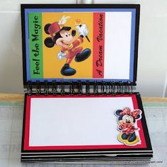 Disneyland autograph book use small notebook and embellish