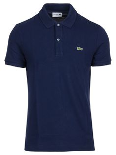Shop Lacoste Cotton Polo In Blu from stores. On SALE now! Cotton polo with button closure made by Lacoste. Slim fit and short sleeves. Lacoste Polo, Polo T Shirts, Short Sleeves, Mens Fashion, Cotton, Mens Tops, School Uniforms, Free Range, Clothes