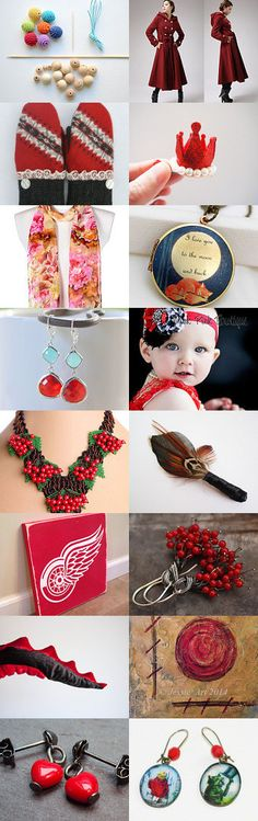 Les boucles d'oreilles petit chaperon rouge rencontrant le loup. 2 by Irina on Etsy--Pinned with TreasuryPin.com