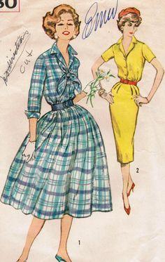 1950s Simplcity 2580 Vintage Sewing Pattern by midvalecottage