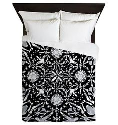 Gothic Queen Duvet Cover  Black And White  Ornaart by Ornaart, $199.00