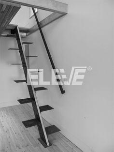Escalera Elegante, Sobria y Sencilla. Modelo de Escalera de Pie Derecho
