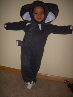 Infant/Toddler Cute Children's Animal Jumpsuit Lion Panda Elephant  Costumes  6 Months thru 6 years Old. $39.99, via Etsy.