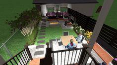 3d Landscape, Landscape Designs, Privacy Panels, Fence Panels, Birds Eye View, News Design, Planters, Bloom, Wall