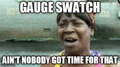 Gauge swatch? Nahhhhh.
