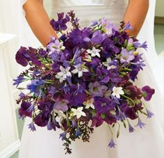 Sweet Purple Bridal Bouquet